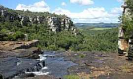 Nova Esperança do Sul - Em cima da cascata-Foto:Bitomaria