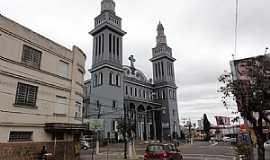 Novo Hamburgo - Novo Hamburgo-RS-Catedral de São Luiz Gonzaga no centro da cidade-Foto:Paulo Yuji Takarada