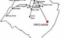 Palmitinho - Mapa de Localiza��o - Palmitinho-RS
