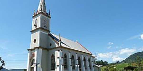 Presidente Lucena-RS-Igreja Três Mártires Riograndenses-Foto:Roque Oliveira