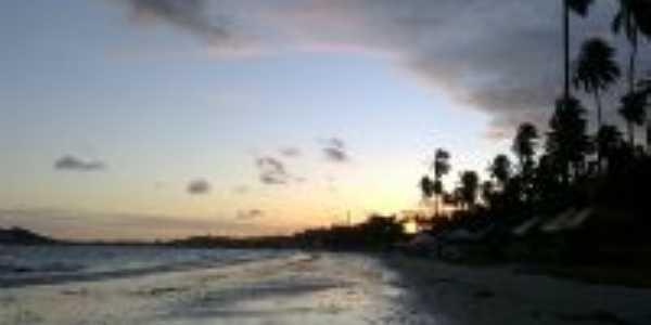 belo por-do-sol na praia de madre de deus. bahia, Por gelson de almeida conceição