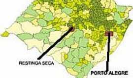 Restinga Seca - Mapa de Localiza��o - Restinga Seca-RS