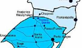 Rodeio Bonito - Mapa de localizaçaõ