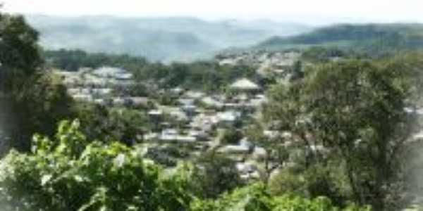 Cidade Salvador do Sul vista das cabanas dos Padres Jesuitas, Por Odilon
