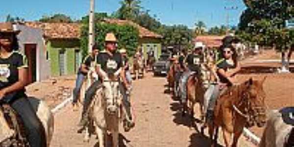 Mandiroba-BA-Primeira Cavalgada da cidade-Foto:folhasebastianense.