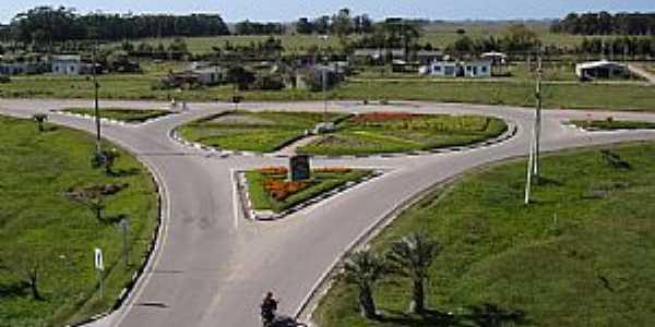 Santa Vitória do Palmar-RS-Vista aérea do Trevo de acesso-Foto:Merc_Otto