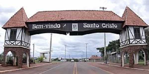 Santo Cristo-RS-P�rtico de entrada-Foto:www.vidanosul.com.br