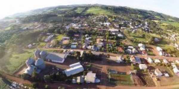 Imagem aérea da cidade de Santo Expedito do Sul - Por Bruna Belusso