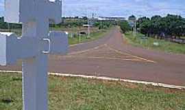 São Luiz Gonzaga - Cruz Missioneira na entrada de São Luiz Gonzaga-Foto:ciclosinos