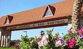São Martinho - São Martinho-RS-Pórtico de entrada da cidade-Foto:bugadigital