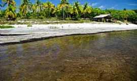 Maraú - Rancho na praia de Maraú-BA-Foto:Auro Queiroz