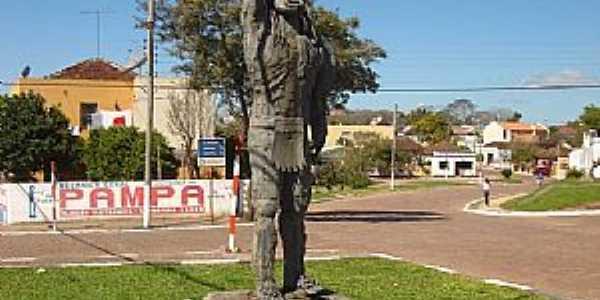 São Sepé-RS-Homenagem ao Índio Sepé na entrada da cidade-Foto:Nilson Monteiro