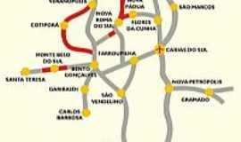 São Vendelino - Mapa de localização