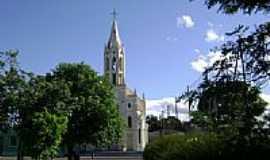 S�o Vicente do Sul - Pra�a e Igreja de S�o Vicente do Sul-RS-Foto:PRSADI DA FONTOURA POR�