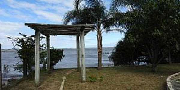 Tapes-RS-Lagoa dos Patos na área central da cidade-Foto:marcosh85.