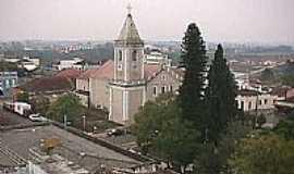 Taquari - Vista da cidade e Igreja-Foto:abmombach