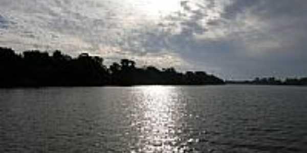 Pôr do Sol no Rio Jacuí-Foto:BrenoB