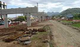 Terra de Areia - Viaduto em construção-Foto:PACM BR101SCRS Geren…