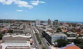 Tramandaí - Tramandaí-RS-Vista aérea da Avenida central-Foto:Jair Prandi