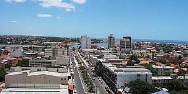 Tramandaí-RS-Vista aérea da Avenida central-Foto:Jair Prandi