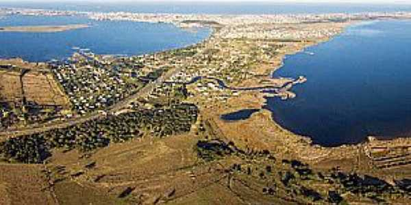 Tramandaí-RS-Vista aérea das lagoas-Foto:Jair Prandi