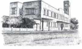 Uruguaiana - estação férrea (desenho), Por CARLOS FONTTES - ESCRITOR/HISTORIADOR