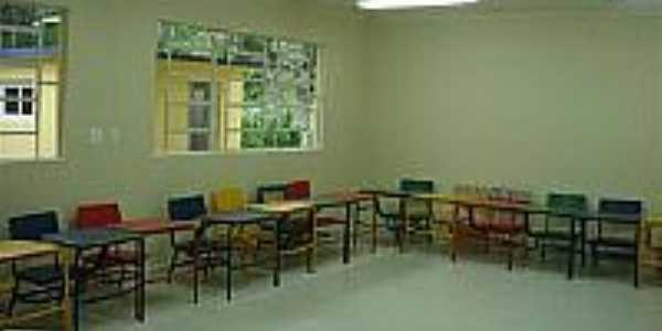 Sala de aula da nova escola