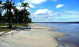 Balne�rio Barra do Sul - Praia na Lagoa Azul em Balne�rio Barra do Sul-SC-Foto:Celso Rene Muller