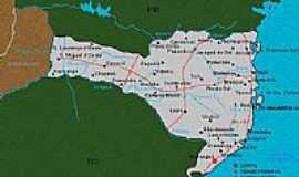 Balne�rio Morro dos Conventos - Mapa