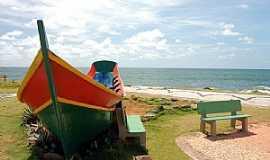 Barra Velha - Barra Velha-SC-Monumento � Pesca Artesanal A�oriana-Foto:Jakson Santos