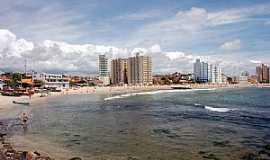 Barra Velha - Barra Velha-SC-Praia das Canoas e a cidade-Foto:Jakson Santos