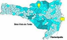 Bela Vista do Toldo - Mapa de Localização - Bela Vista do Toldo-SC
