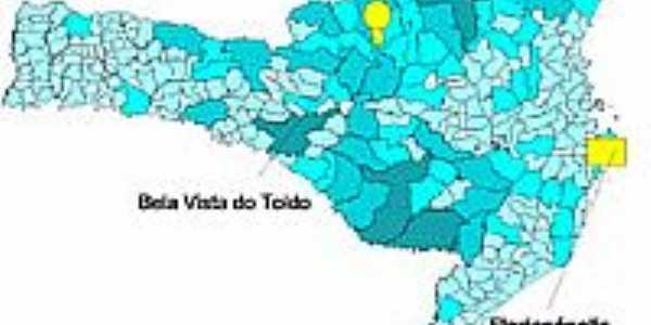 Mapa de Localização - Bela Vista do Toldo-SC