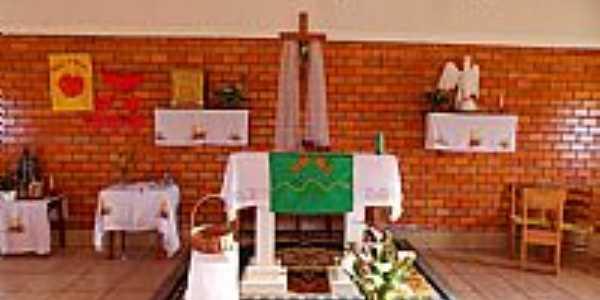 Bom Jardim da Serra-SC-Altar da Igreja do Divino Espírito Santo-Foto:Sidnei Recco
