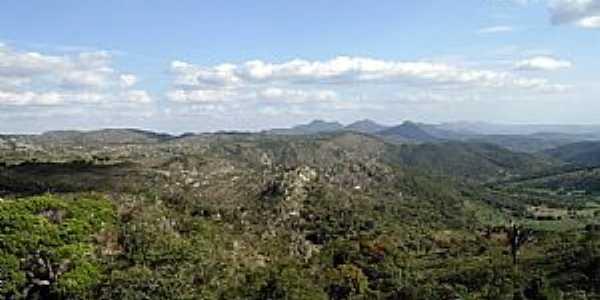 Mirangaba-BA-Vista da Serrá Tombado de Santa Cruz-Foto:losfotosderatonuguaçu
