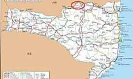Canoinhas - Mapa de Localiza��o - Canoinhas-SC