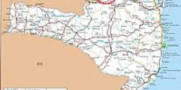 Mapa de Localização - Canoinhas-SC