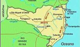 Chapec� - Mapa de localiza��o
