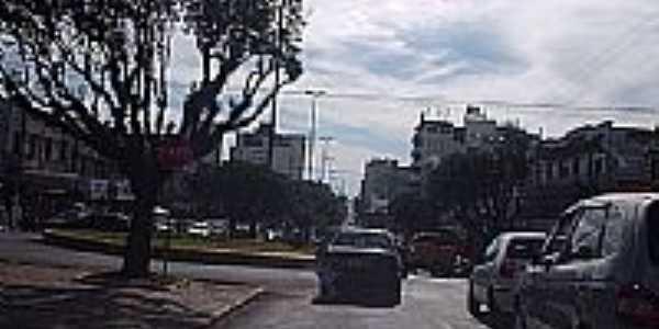 Centro da cidade de Chapecó-Foto:THIAGO DAMBROS