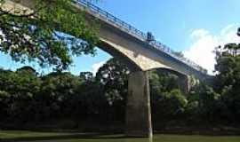 Correia Pinto - Ponte da Ferrovia sobre o Rio Canoas em Correia Pinto-SC-Foto:Sidnei Recco