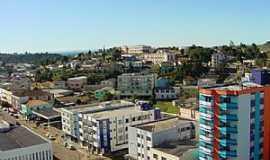 Curitibanos - Curitibanos-SC-Vista da Av.Salomão Carneiro de Almeida e parcial da cidade-Foto:Wolney Cesar Felipe
