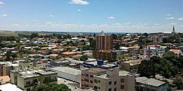 Curitibanos-SC-Vista da área central-Foto:Wolney Cesar Felipe