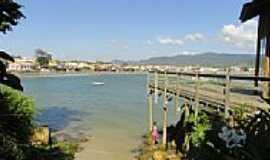 Garopaba - Praia central de Garopaba-SC-Foto:Henrique de BORBA