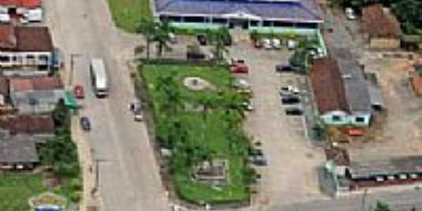 Vista a�rea parcial da cidade de Garuva-Foto: Site Prefeitura Municipal de Garuva