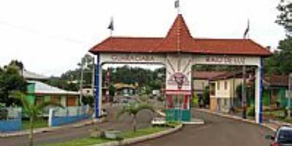Portal de entrada de Guaraciaba-SC-Foto:LEOMAR BALBINOT