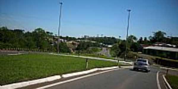 Trevo de acesso de Guaraciaba-SC-Foto:Dirceu Pereira SMO/P…
