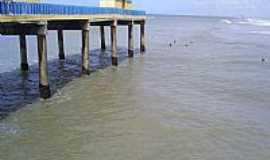 Içara - Içara-SC-Plataforma na Praia do Rincão-Foto:facebook.com/PraiaDoRincaoIcaraSc