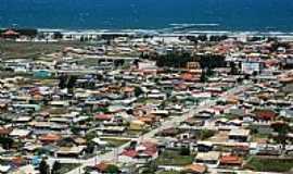 Içara - Içara-SC-Vista aérea da praia e plataforma na Praia do Rincão-Foto:facebook.com/PraiaDoRincaoIcaraSc