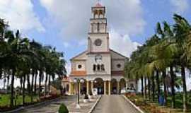 Imaruí - Praça e Igreja de São Luiz Gonzaga e Santa Albertina em Imaruí-SC-Foto:José Carminatti