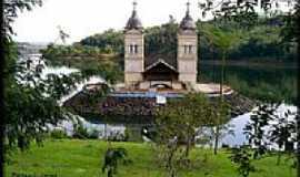 Itá - Torre da Igreja Matriz na Represa de Itá-SC-Foto:Darlan Corral
